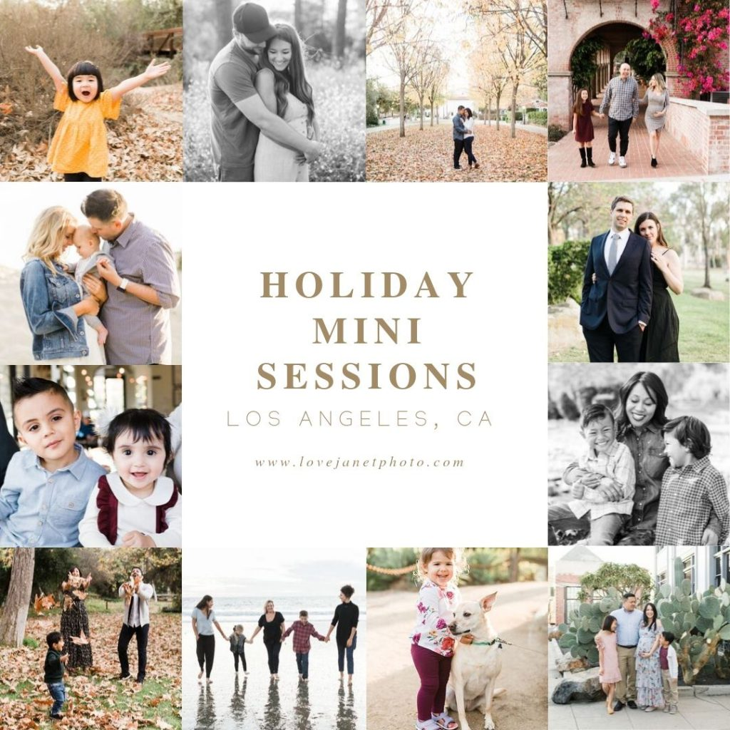 family photos for the holidays