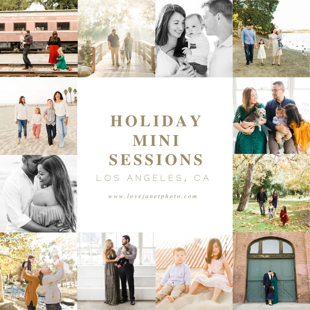 lifestyle photos of families and couples taken during the holidays - known as holiday or fall mini sessions